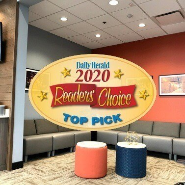 Daily Herald Readers Choice logo over waiting room