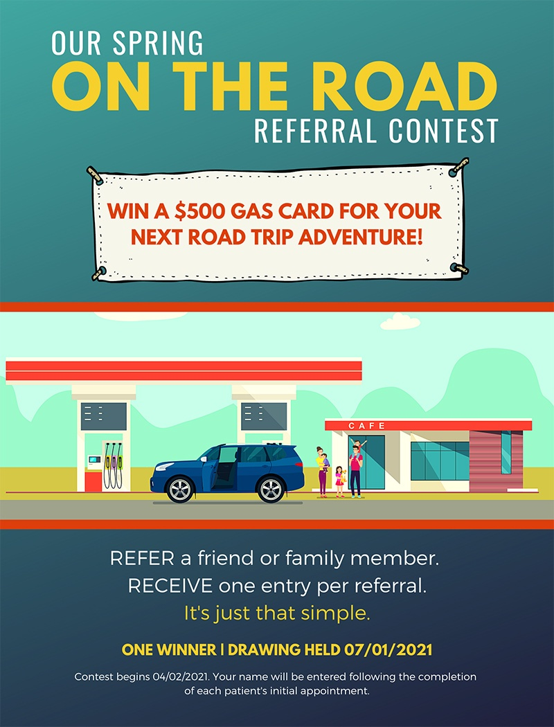 Win a $500 gas card when you refer a patient