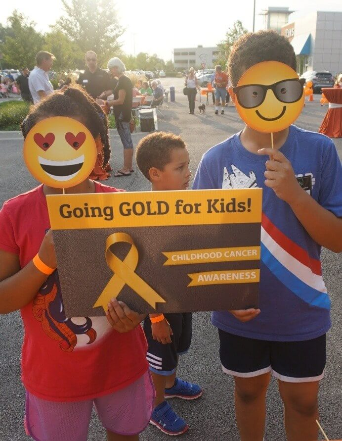Children at Going Gold for Kids race