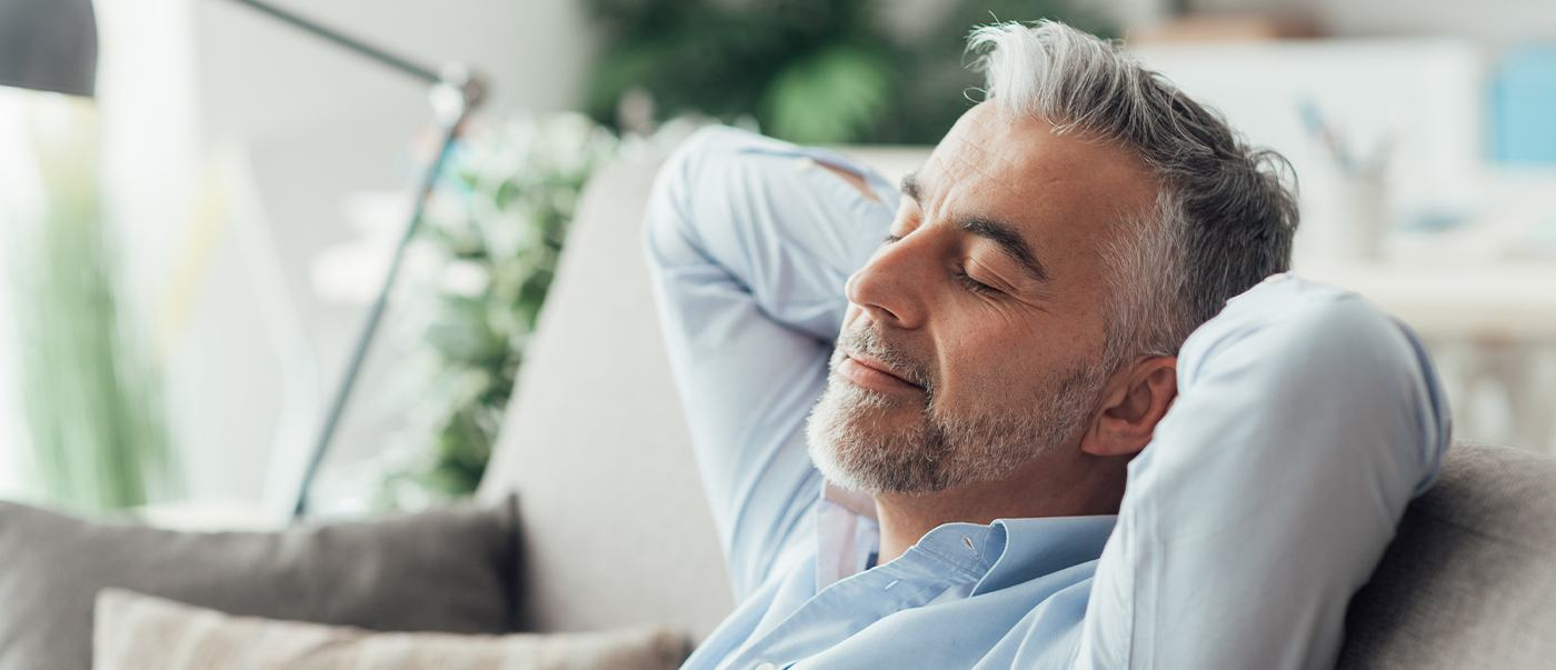Man resting after sedation dentistry visit