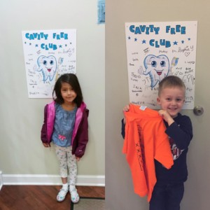 Kids at Westgate Dental in the Cavity Free Club