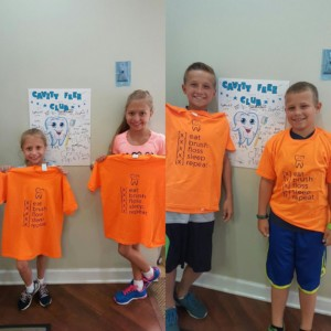 Cute kids in the Cavity Free Club at Westgate Dental Care