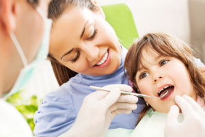 child smiling dental visit