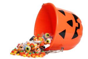 overflowing halloween bucket